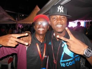 A l'inauguration de l'Etoile Lounge Club à Douala en Janvier 2013