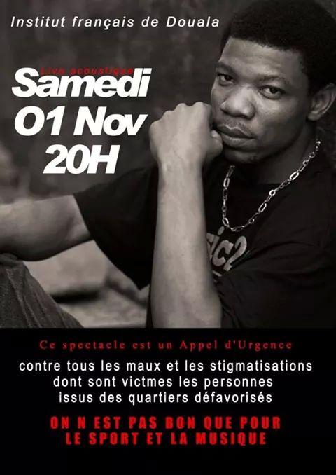 Affiche spectacle de l'artiste Hobscur à l'Ifc de Douala