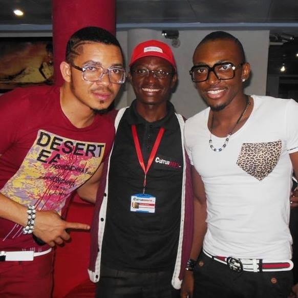 Avec le groupe nigérian BRACKET