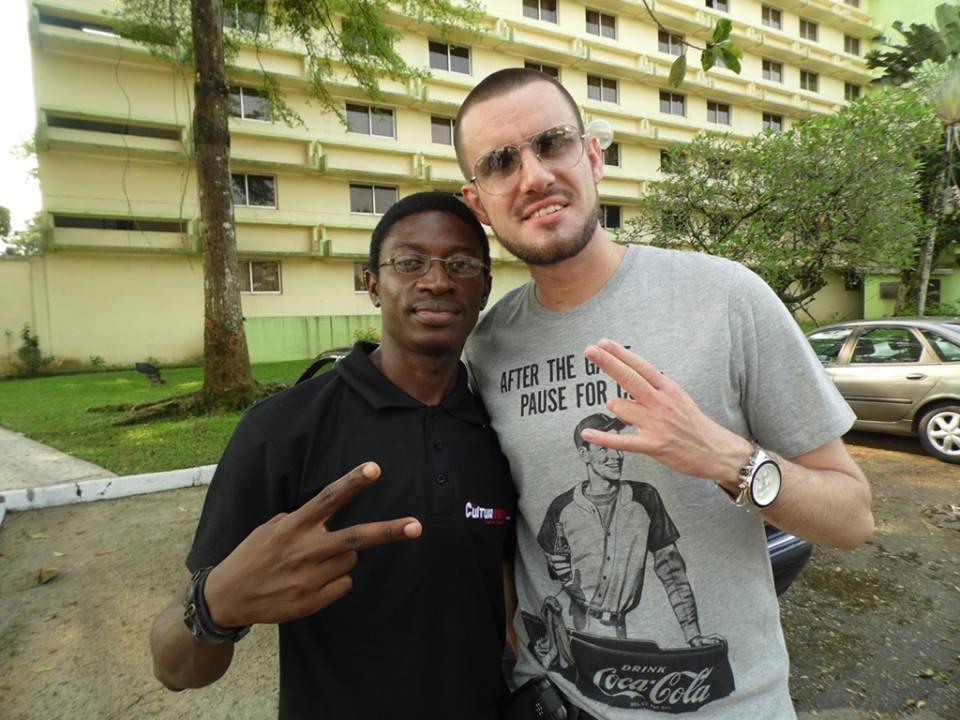 Daniel Ndieh et Dj Battle (Dj Officiel de la star du rap français LA FOUINE)