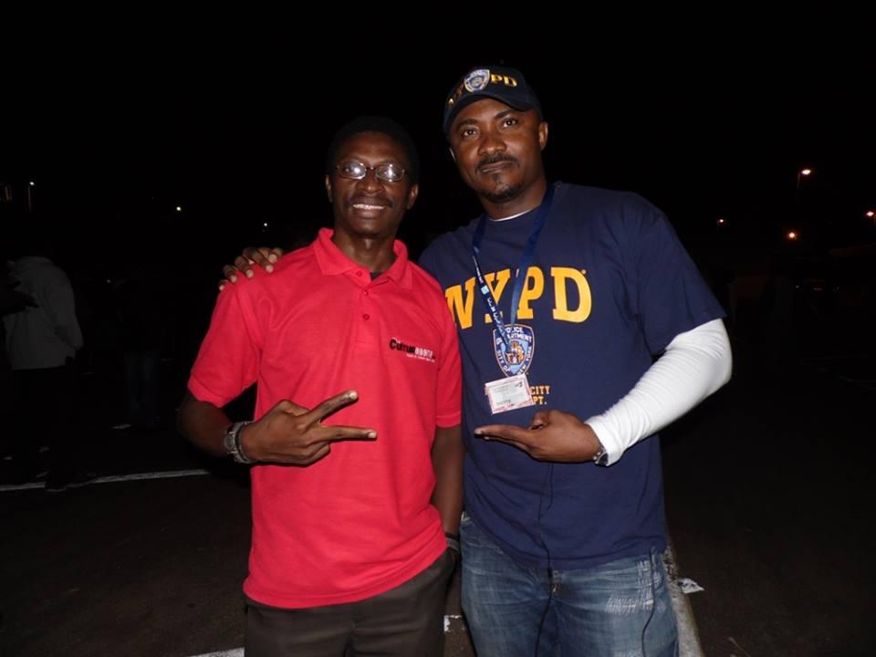 Daniel Ndieh et la star du cinéma ivoirien Guy Kalou