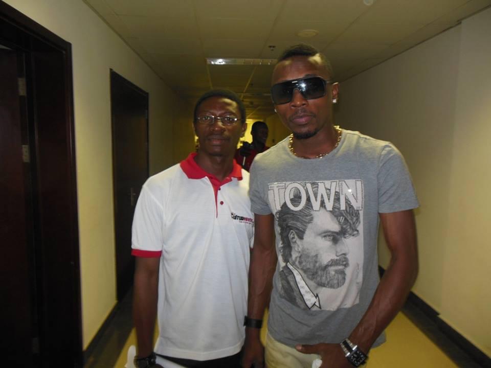 Daniel Ndieh et la star ivoirienne Serge Benaud