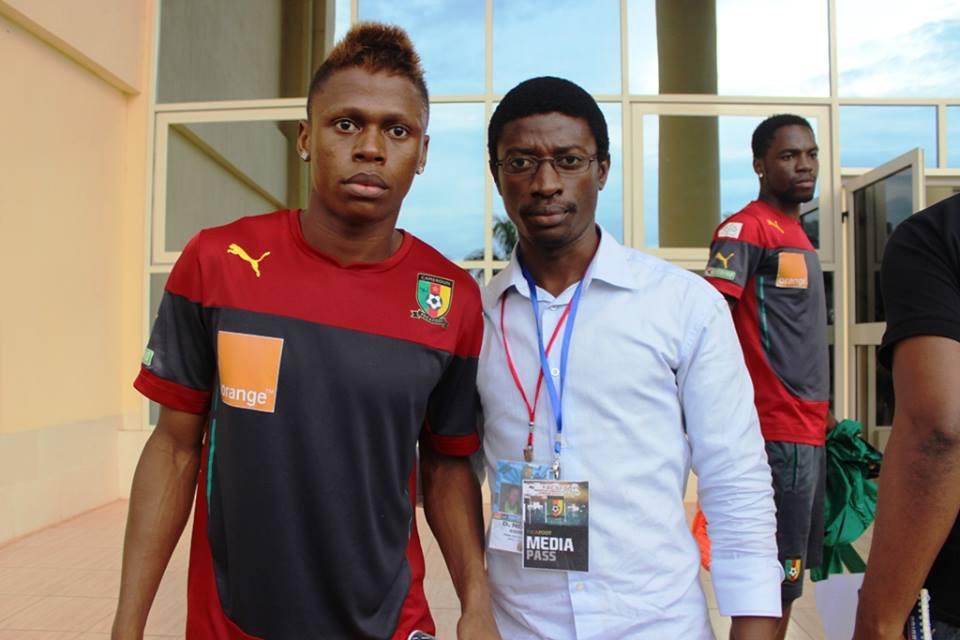 l'international camerounais Njié Clinton et Daniel Ndieh au Centre Technique de la CAF à Mbankomo